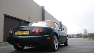 Mazda MX5 NA 1.6 stock vs Cobalt exhaust