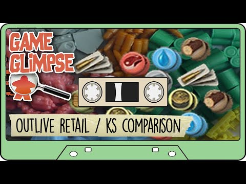 OUTLIVE COLLECTOR EDITION BOARD GAME COMPONENTS - Comparison To Retail