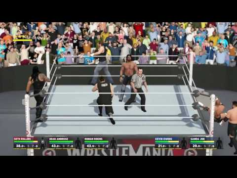 WWE 2K17 SHIELD VS THE AUTHORITY
