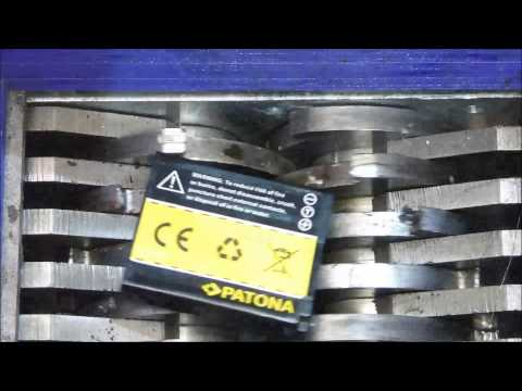 Shredding Lithium-Polymer and Lithium-ion battery