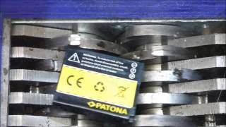 shredding lithium polymer and lithium ion battery