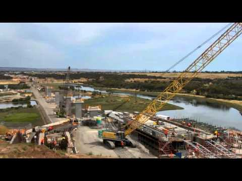 Seaford Rail Extension Time-lapse September 2012