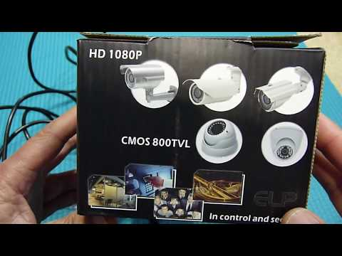 ELP-USB100W05MT-DL36 USB2.0 Surveillance Camera Unboxing With Windows And Mac Software