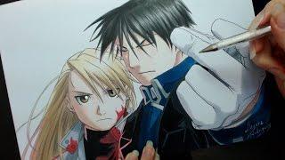 Speed Drawing - Roy and Riza (FullMetal Alchemist)