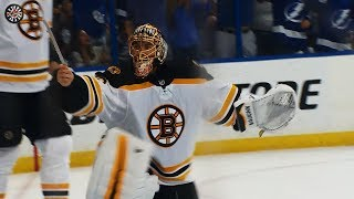 Rask furious after broken skate leads to Lightning goal