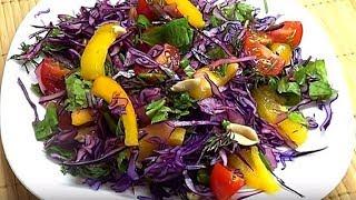Простой салат. Очень вкусный и полезный.