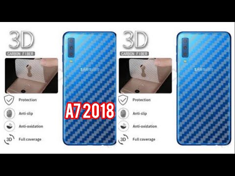 How To Install Carbon Sticker Skin For Samsung A7 2018