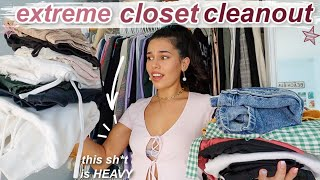 EXTREME closet cleanout 2020 *i'm bored lol* SPRING CLEANING