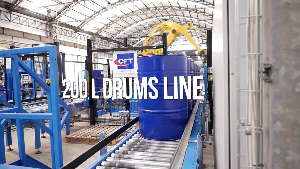 CFT Groups Complete Line For Lube Oil In Drums Up To 200 L