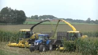 Koszenie kukurydzy - sieczkarnie New Holland FR500 i FR9050! / WarpolAgroTV