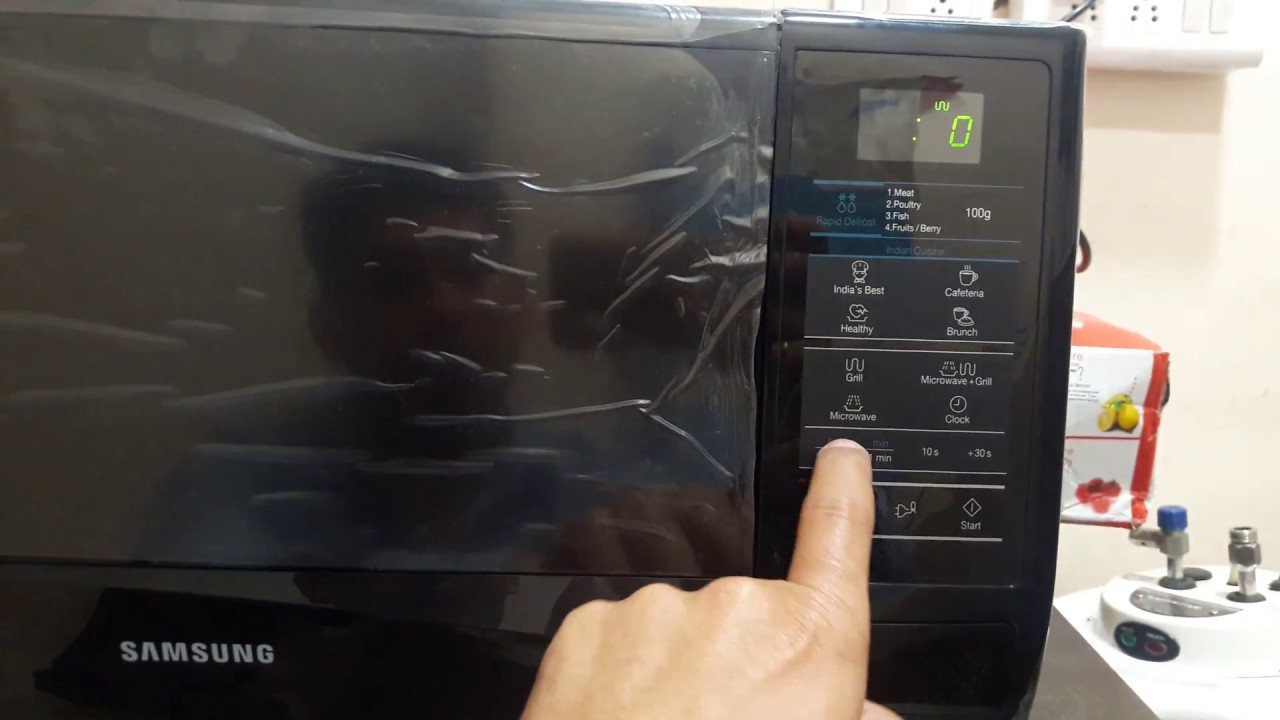 how to use samsung 20 liter grill microwave model gw 732 kd b full demo