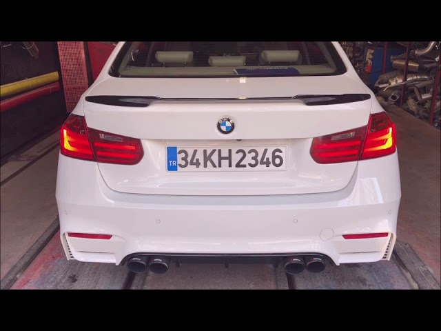 BMW F30 3.20 DİZEL KUMANDALI VAREX EGZOZ SESİ