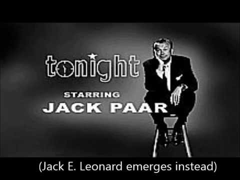 Jack Paar's Last Tonight  March 29, 1962 Only