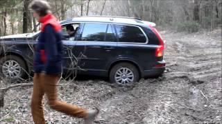 Переезд через колею Volvo XC90