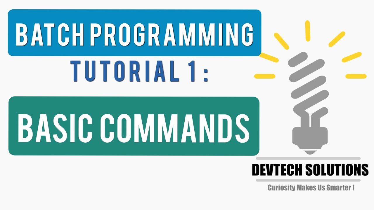 Bangla learn batch file programming tutorial part:2 || using cmd.