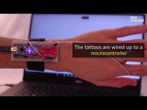 Electronic tattoos put smartphone controls on your skin
