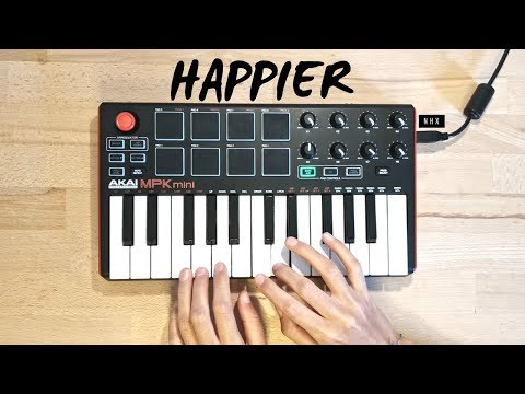 Happier - Marshmello ft. Bastille   Cover (Akai Mpk Mini Mk2)