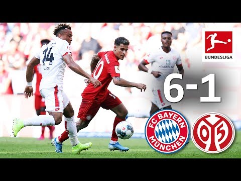 Coutinho's 1st Bayern Start - 1st Perisic & Pavard Goals | Bayern München - Mainz I 6-1 I Highlights
