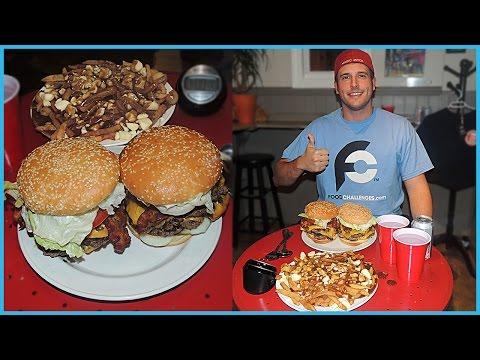 Canadian Burgers & Poutine Fries Restaurant Challenge!