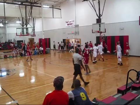 "Trayvon Ferrell ""Highlights""  Vs Team Richmond Garner rd. -Jersey Red #21"
