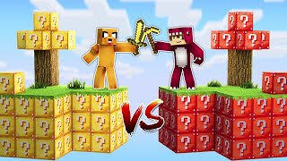 ISLA de LUCKY BLOCKS de MIKECRACK vs. ISLA de LUCKY BLOCKS de RAPTOR Y FRAN! 😱❓ MINECRAFT MODS