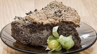 Маковый пирог видео рецепт UcookVideo.ru