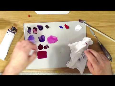 Violet Oil Paint