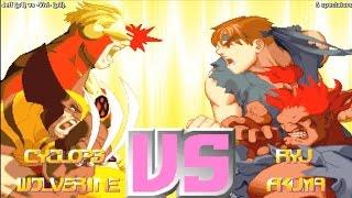 X-Men vs. Street Fighter Online Match - Fightcade - Jeff (USA) vs. -Vivi- (USA)