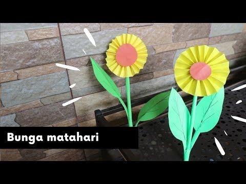 Cara Membuat Bunga Matahari Dari Kertas Origami Youtube