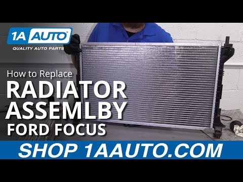 How to Replace Radiator Assembly 00-07 Ford Focus