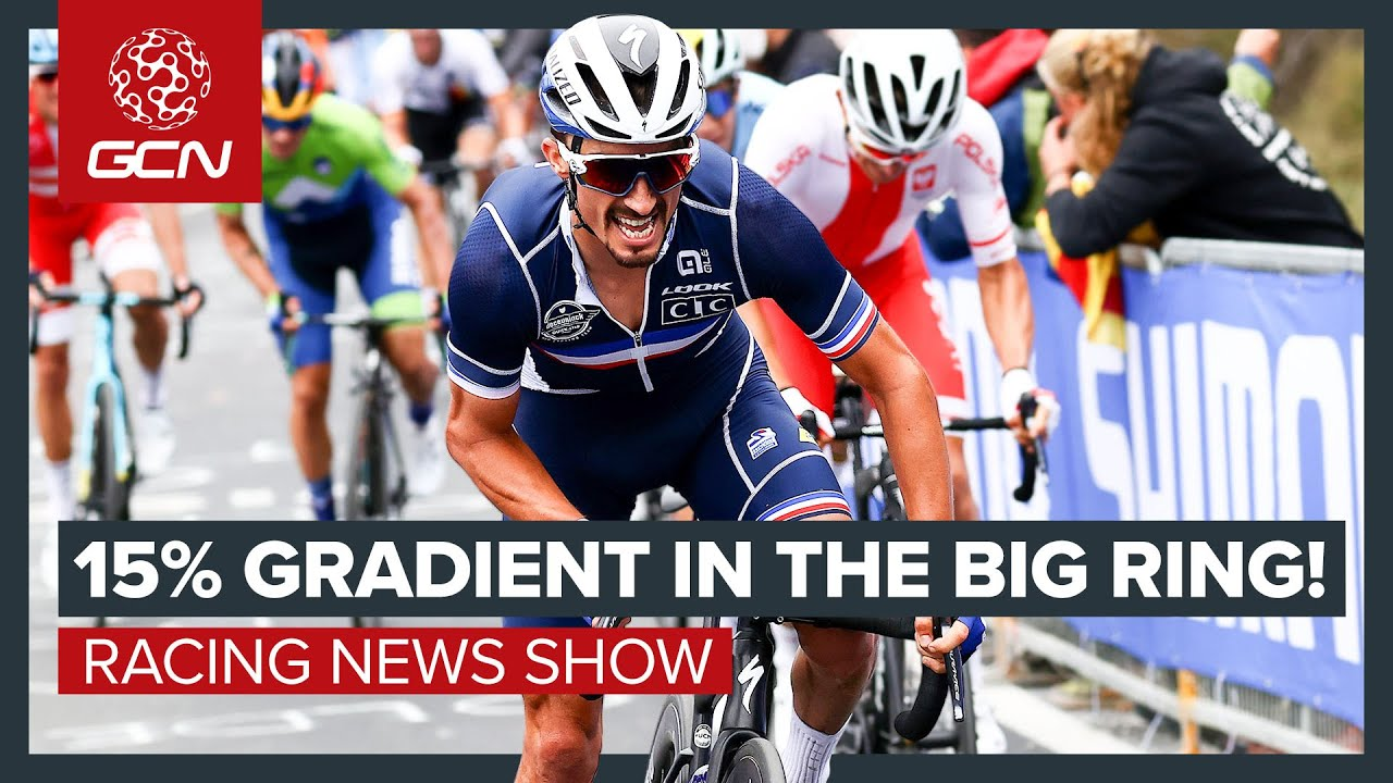 Alaphilippe Attacks 15% Gradient In The Big Ring To Win World Champs | GCN Racing News Show