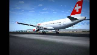 FS2004 Swiss LX1941 Barcelona To Geneve [HD 1080p]