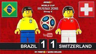 Brazil vs Switzerland 1-1 • World Cup 2018 (17/06/2018) All Goals Highlights Lego Football • Brasil