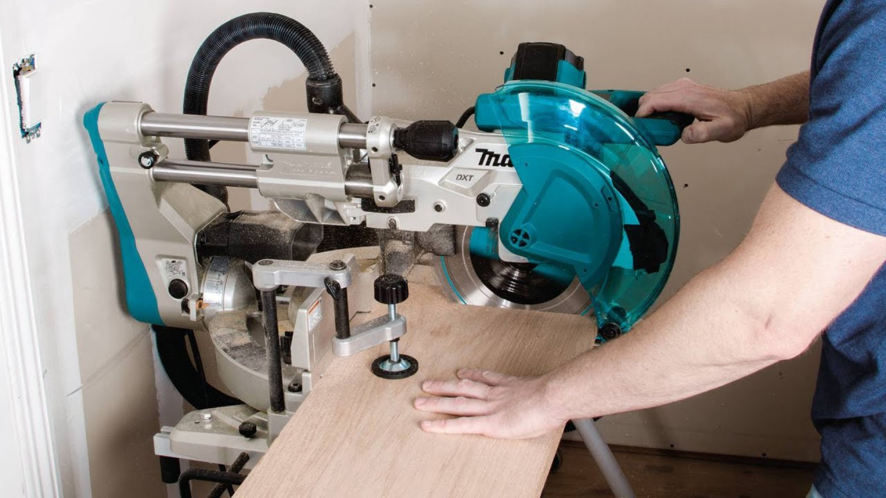 Bosch sliding compound miter saw with laser