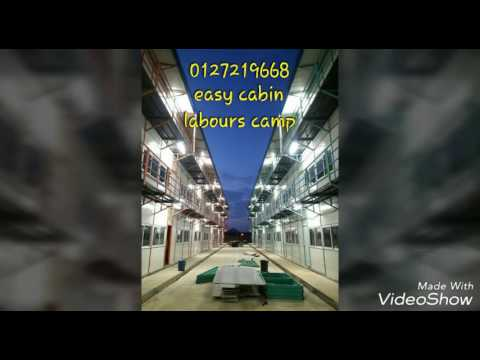 Labour camp accommodation production process and installation process at pengeran for rapid petronas