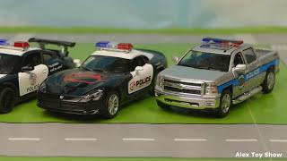 Мультик про машинки - 200 серия:  Полицейская погоня, Гоночная машина, Авария, Трактор
