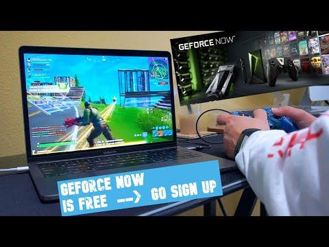 GeForce Now FREE Membership | Fortnite Season 2 On 2019 Macbook Pro Using Nvidia GeForce Now