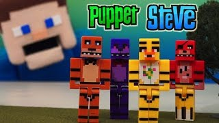 Five Nights at Freddy's Bootleg Minecraft Block Toy Figures Fake Knock off's unboxing