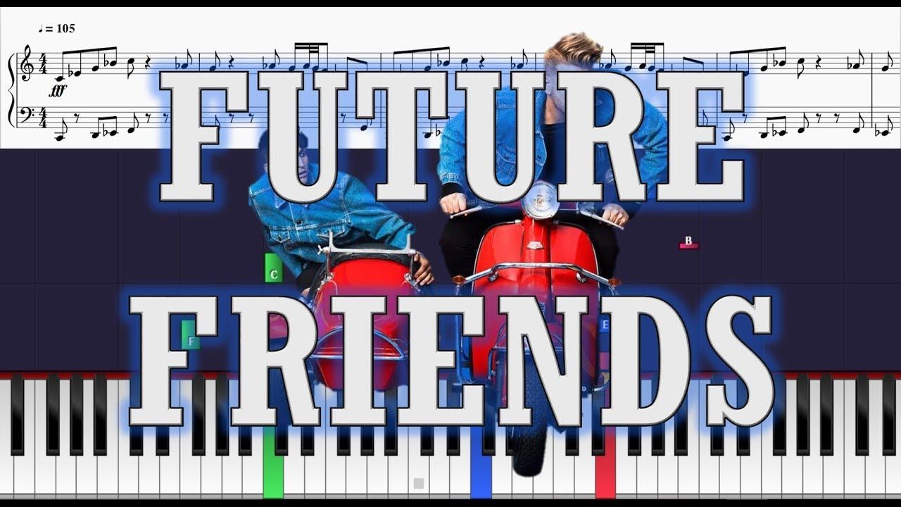 Superfruit - Future Friends - Piano Tutorial w/ Sheets - YouTube