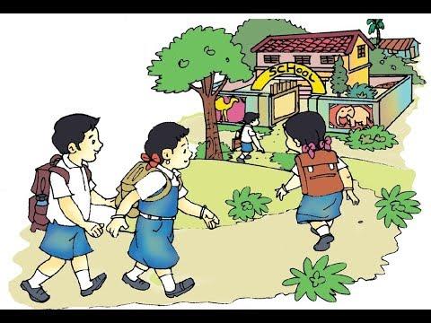 go go go to School Rhyme, Class 2, English, Part A, Unit 4 ...