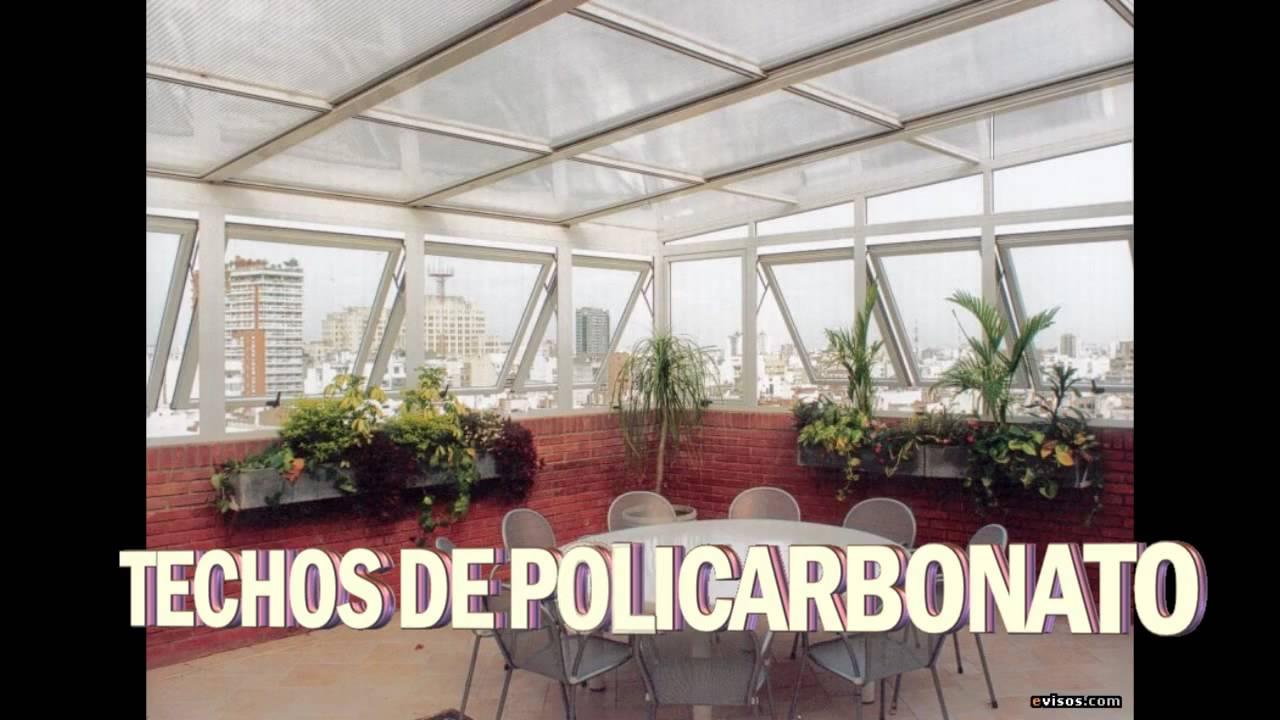 Puertas de ducha y techos de policarbonato youtube for Modelos de techos para galerias
