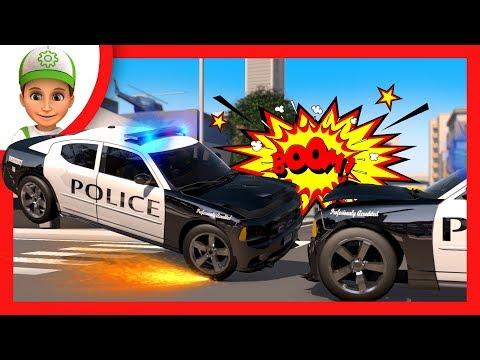 Poursuite Rapide D Un Criminel Voiture De Dessin Anime Cars