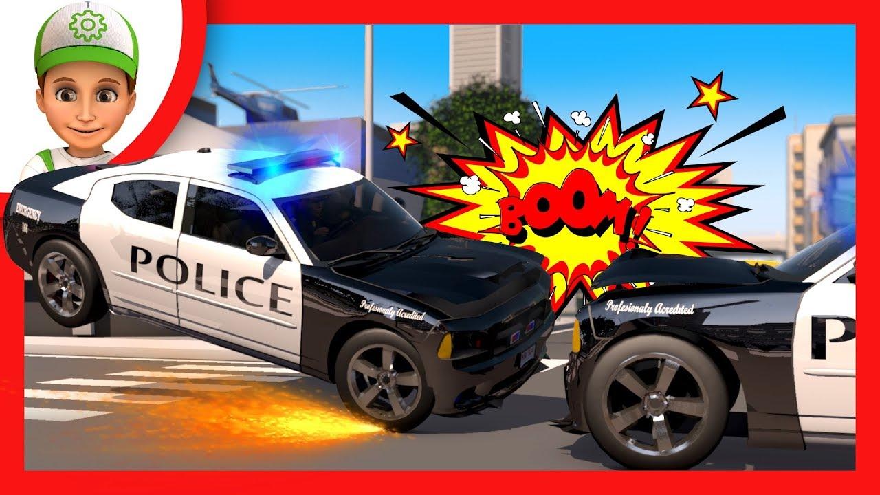 Voiture de POLICE sirene. Auto POLICE Dessin animé ...