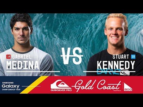Gabriel Medina vs. Stuart Kennedy - Quiksilver Pro Gold Coast 2016