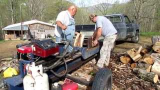 TWO WAY LOG SPLITTER HOMEMADE