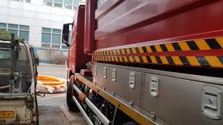 현대제철 폐기물저류조 흡입준설작업준비영상 제철소 저류조…