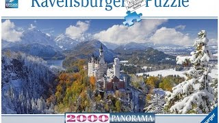 Time Lapse Puzzle - Neuschwanstein Castle - Ravensburger 2000 piece panorama(Total Pieces: 2040 Build Time: Approximately 29.5 hours This puzzle was fairly challenging and took as long as an easier 3000 piece puzzle. I started in ..., 2015-07-31T05:41:41.000Z)