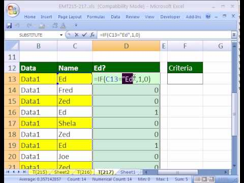 Excel Magic Trick #217: IF Function Text Logical Test