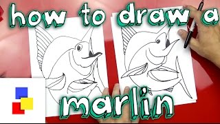 How To Draw A Marlin