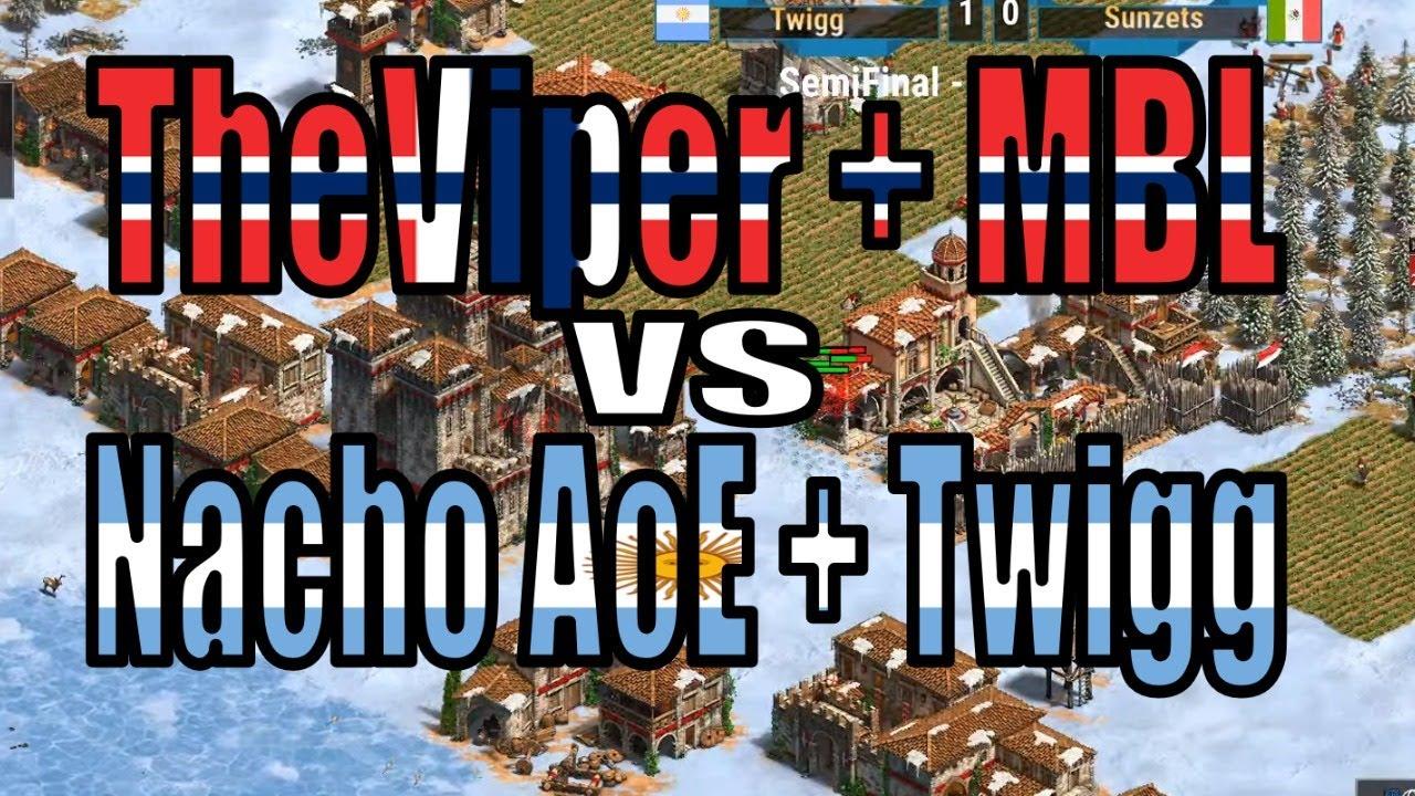 😱EN VIVO: THEVIPER+MBL vs NACHO AOE + TWIGG